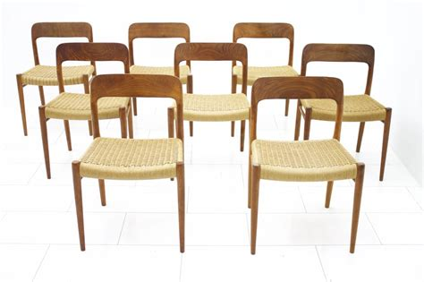 8 dining room chairs niels o m 248 ller teak chairs inside room