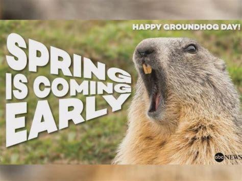 groundhog day live 2016 no shadow pennsylvania groundhog predicts early
