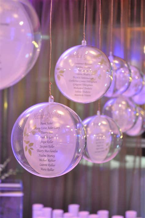 plan de table boule plexi plan de table mariage boules transparentes suspendues