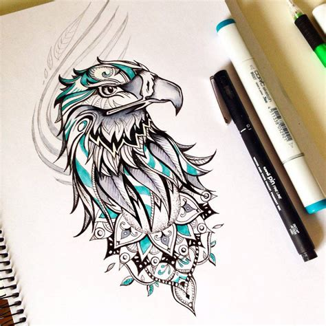 eagle tattoo design on behance