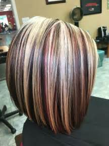 red highlights on black brown blonde hair hair fashion short dark brown hair with red and blonde highlights