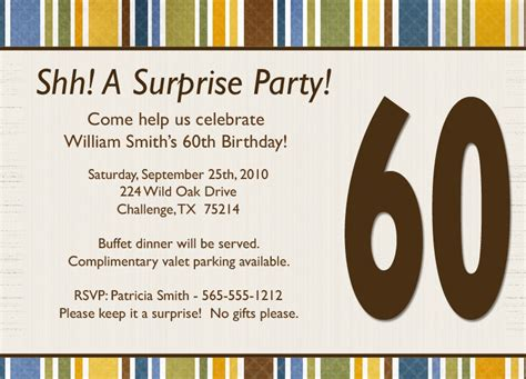surprise birthday invitation wording template best
