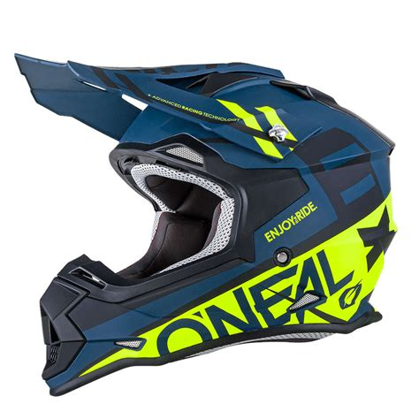 Helm Cross Mtb o neal helmet 2series rl spyde black hi viz yellow 2018 maciag offroad