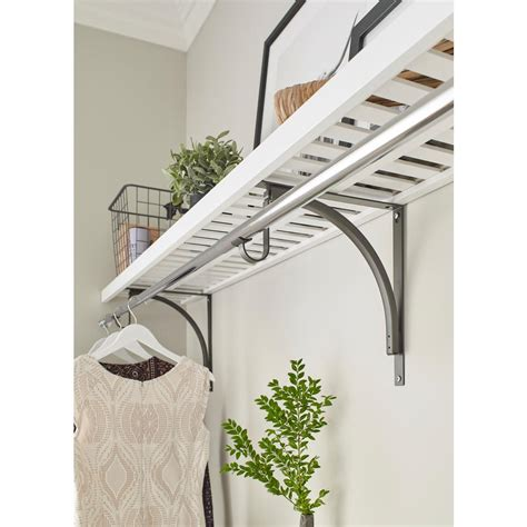 closetmaid wood shelf closetmaid 12 in x 48 in ventilated wood shelf kit in