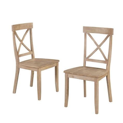 home styles white wash wood x back dining chair set of 2