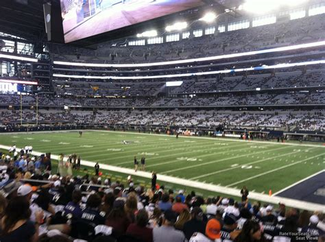 cowboys stadium sections at t stadium section 128 dallas cowboys rateyourseats com