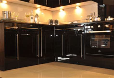 black high gloss fitted kitchens uk