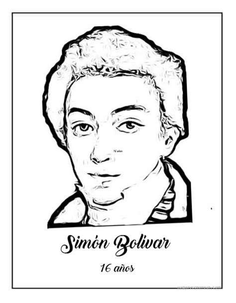 dibujos para colorear d simon bolivar dibujos de sim 243 n bol 237 var para colorear