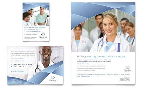 Home Business Ideas For Nurses Nursing School Hospital Flyer Ad Template Design