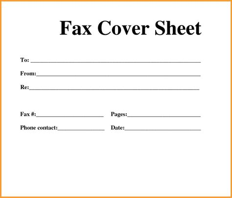 Full Size Printable Fax Cover Sheet | fax cover sheet template for mac and fax cover sheet blank