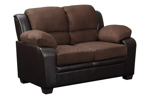 chocolate microfiber sofa u880018 sofa loveseat chocolate microfiber by global w
