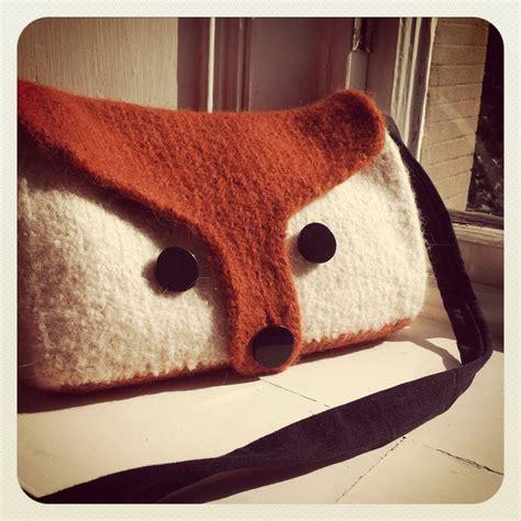 etsy fox pattern diy felted fox bag knitting pattern via etsy diy