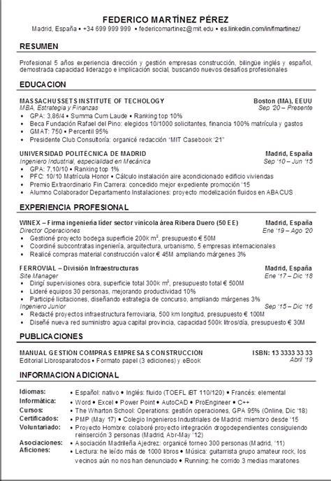 Modelo Resumen Curricular En Ingles Modelos De Resumen En Ingles Commonpence Co