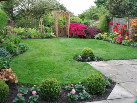 Garden Border Planting Ideas Decoration Small Backyard Landscape Design With Lush Grass Thoroughly And Gardening