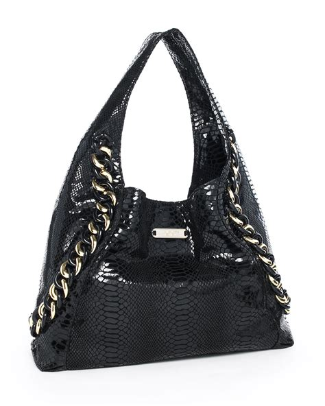 Michael Kors Id Chain Python Shoulder Bag by Michael Kors Michael Id Chain Python Embossed Hobo In