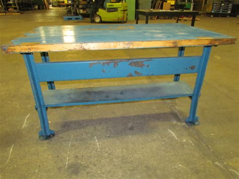 butcher block bench vintage industrial butcher block workbench table reloading