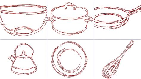kitchen embroidery designs kitchen redwork doodle embroidery design modern redwork