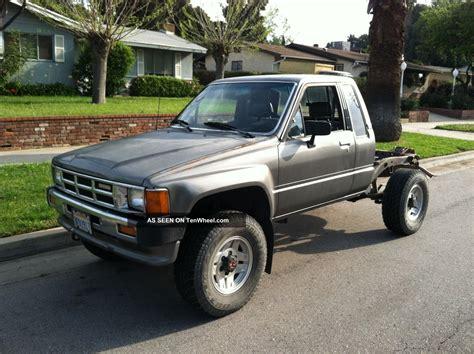 1986 toyota 4x4 1986 toyota 4x4 xtracab tacoma truck ac 4 cyl 5 spd sr5