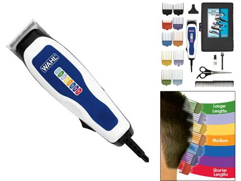 clippers colors wahl 9155 700 color pro 17 hair clipper complete