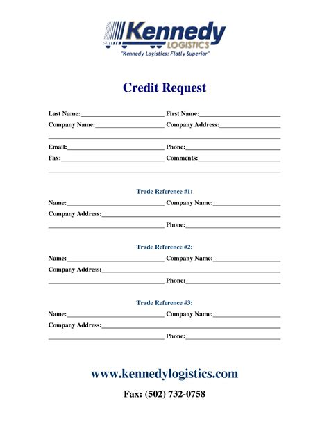 Request For Credit Reference Letter Template Best Photos Of Printable Credit Reference Form Printable Two Week Notice Letter Form Credit