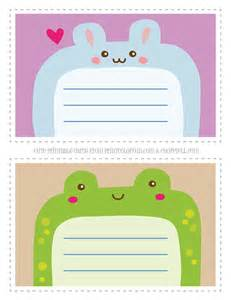 cute printable animal notecards kids rabbit amp frog coloring print color fun