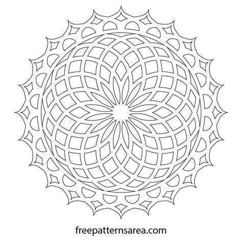 2d Drawing Software Online free geometric lotus mandala ornament vector