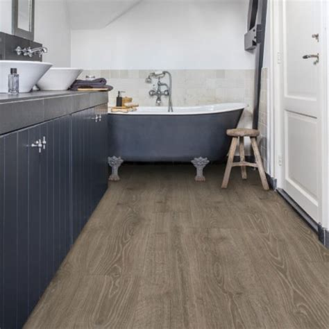 Quickstep Bathroom Flooring by Woodland Oak Brown Mj3548 Step Laminate