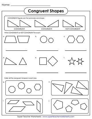Similar And Congruent Figures Worksheet by Geometry Worksheets Congruent And Similar Shapes