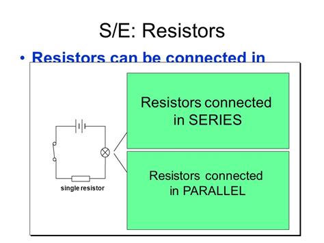 resistors connected in series are called dividers of volume b chapter 18 electricity ppt