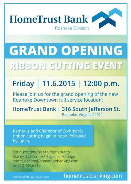 grand opening of the new roanoke downtown location