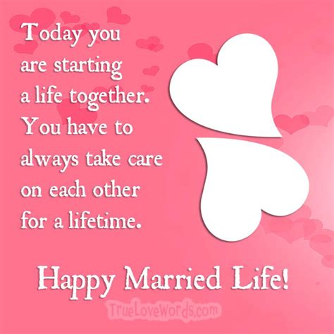 wedding wishes  happy married life messages true love words