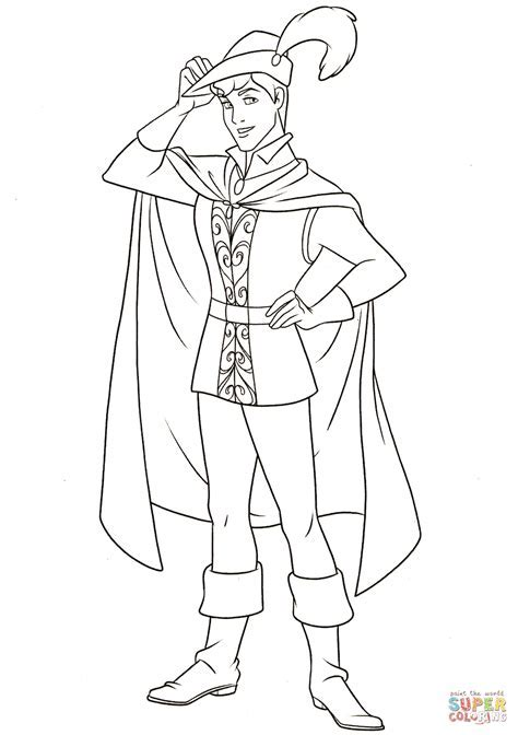 Prince Phillip Coloring Page Free Printable Pages