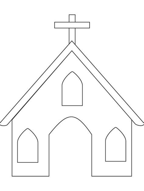 church template church coloring page free church coloring page