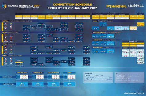 Calendrier Hockey 2017 Match Schedule Handball 2017