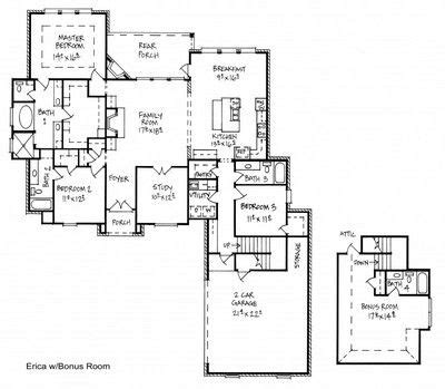 southern design home builders inc southern home builders inc erica with bonus room floor