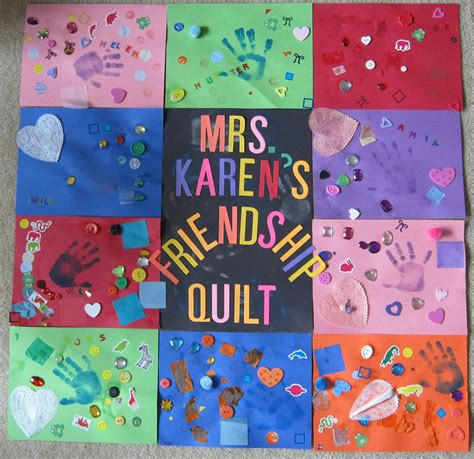 friendship craft for mrs s preschool ideas q is for quilt