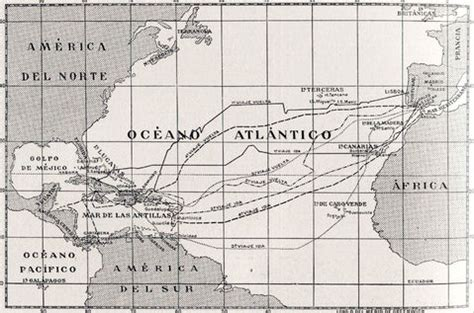 rutas de los barcos de cristobal colon los viajes de crist 243 bal col 243 n en 1492 1493 1498 y 1502