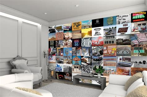 Wall Murals Route 66 Route 66 Wall Mural Buy At Europosters