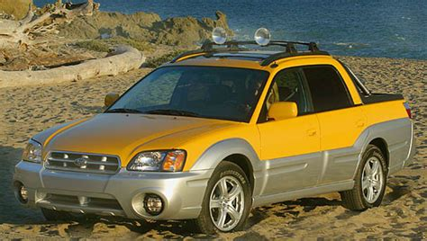 yellow subaru baja ugly truck hall of shame ugly truck day ugly truck day