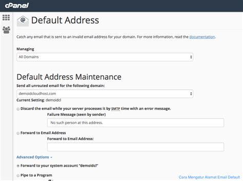 alamat untuk mengecek bug host cara mengatur alamat email default pada cpanel idcloudhost