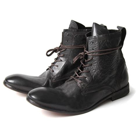 h by hudson boots h by hudson boots swathmore black leather mens boot ebay