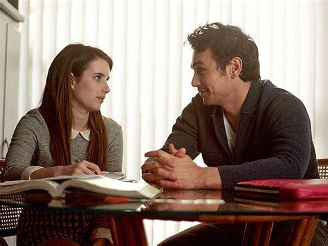 emma roberts james franco film palo alto emma roberts talks flirting with james franco