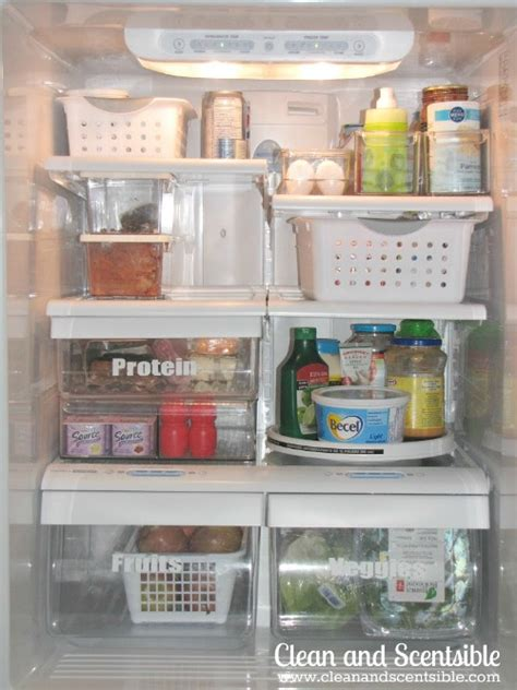 organizing or organising how to organize the fridge and freezer clean and scentsible