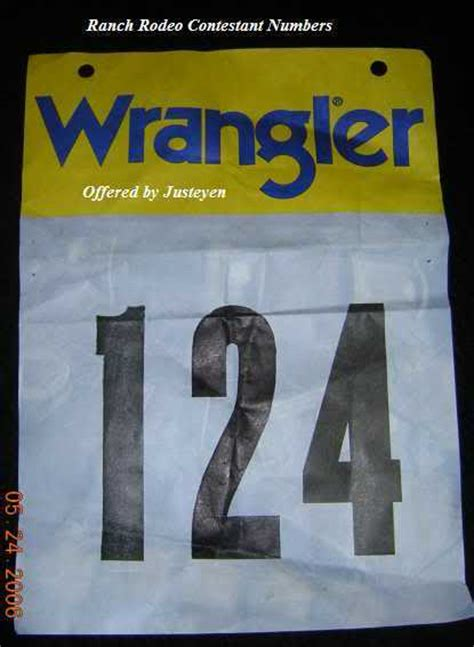 printable rodeo numbers wrangler rodeo butt contestant back number western decor