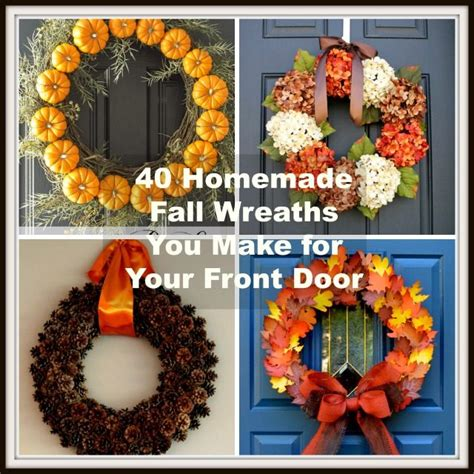 how to make a fall wreaths for front door 40 fall wreaths to make for your front door
