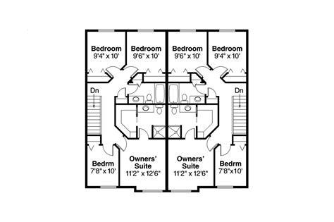 duplex floor plans free craftsman house plans toliver 60 020 associated designs
