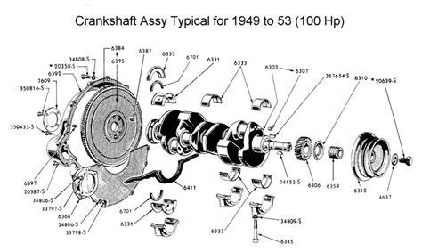 crankshaft parts diagram engine crankshaft valve components assembly car parts
