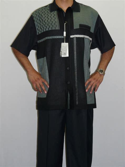 mens silversilk two walking leisure suit silky