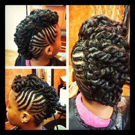 hair used for mohawk twists an awesome braided mohawk with lots of pretty twists