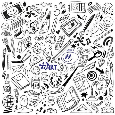 doodle how to make tools tools doodles stock vector 24323703